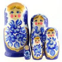 "Матрешка ""Маргаритки на голубом"" 5 мест"