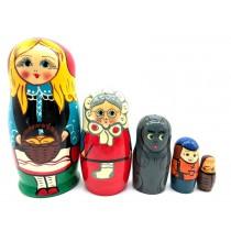 """Матрешка """"Красная шапочка"""", 5 кукол"""