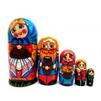 Матрешка-семейка, 5 кукол