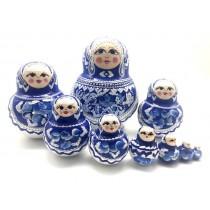 "Матрешка ""Ультрамарин"", 10 кукол"