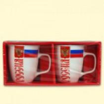"""Чашки """"Россия"""" (2 шт.) 400 мл,в подарочной упаковке"""