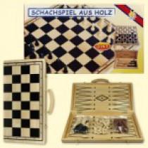 Набор 3 в 1 (шахматы,шашки,нарды), дерево, доска 40х40 см