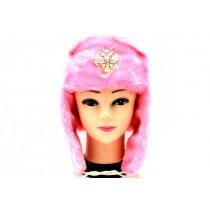 Шапка-ушанка, розовая
